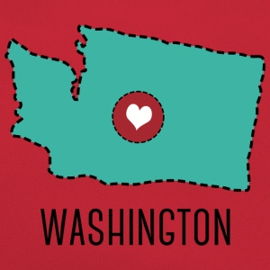 Washington State Herz T-shirts - Retro-tas