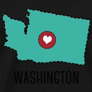 Washington State Herz Bags & Backpacks - Men's Premium T-Shirt