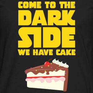 Come To The Dark Side - We Have Cake T-skjorter - Premium langermet T-skjorte for menn