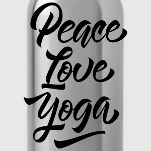 Peace Love Yoga Tops - Trinkflasche