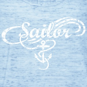 Sailor Waves Anchor Vintage Sail Design (White) T-Shirts - Women's Tank Top by Bella