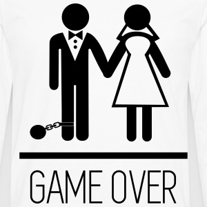 Game over - Stag do - Hen party - Funny T-Shirts - Männer Premium Langarmshirt