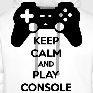 KEEP CALM AND PLAY CONSOLE T-Shirts - Men's Premium Hoodie