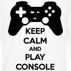 KEEP CALM AND PLAY CONSOLE T-Shirts - Men's Premium Longsleeve Shirt