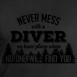 never mess with a diver T-shirts - Sweatshirt herr från Stanley & Stella