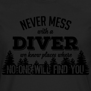 never mess with a diver T-shirts - Långärmad premium-T-shirt herr