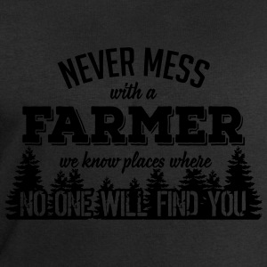 never mess with a farmer T-Shirts - Men's Sweatshirt by Stanley & Stella