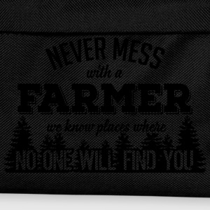 never mess with a farmer T-Shirts - Kids' Backpack