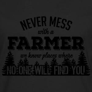 never mess with a farmer T-shirts - Långärmad premium-T-shirt herr