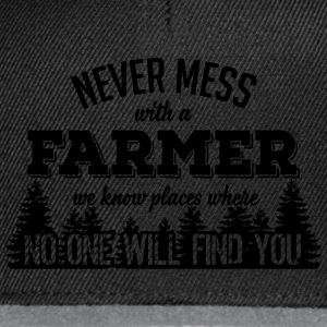never mess with a farmer T-Shirts - Snapback Cap