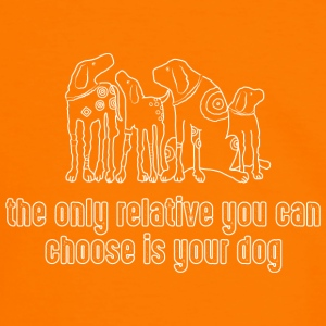 the only relative you can choose is your dog Hund - Männer Kontrast-T-Shirt