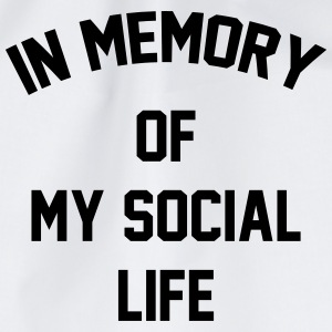 In memory of  my social life Tee shirts - Sac de sport léger