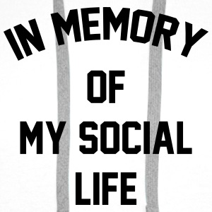 In memory of  my social life Tee shirts - Sweat-shirt à capuche Premium pour hommes