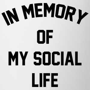 In memory of  my social life Tee shirts - Tasse