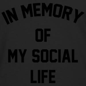 In memory of  my social life Tee shirts - T-shirt manches longues Premium Homme