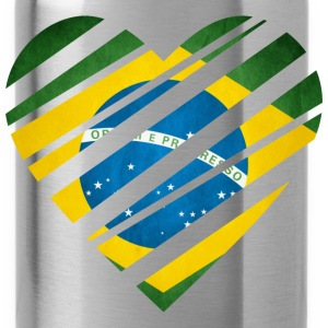 Brazil Heart T-Shirts - Water Bottle