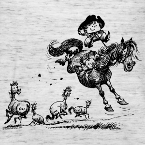 Thelwell 'Cowboy Western riding' T-shirts - Vrouwen tank top van Bella