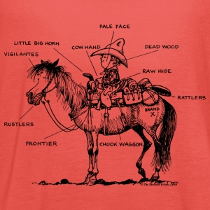 Thelwell 'Learning Western riding' T-Shirts - Women's Tank Top by Bella