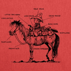 Thelwell 'Learning Western riding' T-shirts - Skuldertaske af recycling-material
