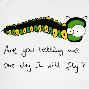 freaky caterpillar text T-shirts - Basebollkeps