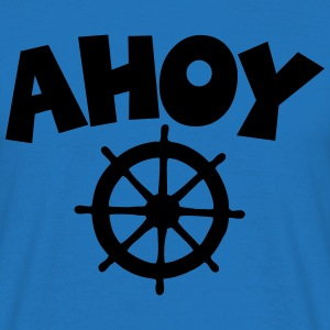 Ahoy Wheel Segel Design  Aprons - Men's T-Shirt