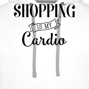 Shopping is my cardio - Sweat-shirt à capuche Premium pour hommes