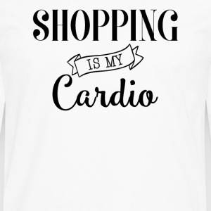 Shopping is my cardio - T-shirt manches longues Premium Homme