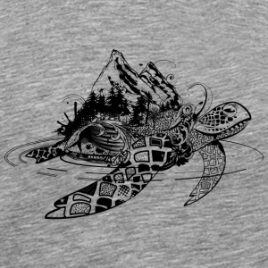 Surreal sea turtle Other - Men's Premium T-Shirt