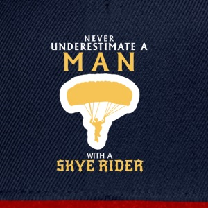 NEVER UNDERESTIMATE A MAN WITH A SAIL SHADE T-Shirts - Snapback Cap