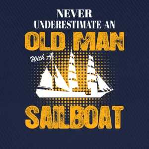 Never Underestimate An Old Man With A Sailboat T-Shirts - Baseball Cap