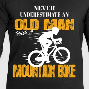 Never Underestimate An Old Man With A Mountain Bi T-Shirts - Men's Sweatshirt by Stanley & Stella