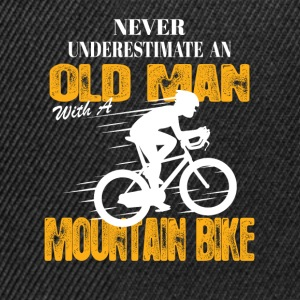 Never Underestimate An Old Man With A Mountain Bi T-Shirts - Snapback Cap