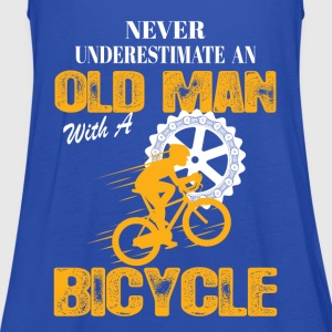 Bicycle Old Man T-Shirts - Women's Tank Top by Bella