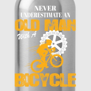 Bicycle Old Man T-Shirts - Water Bottle