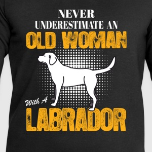 Old Woman With  A Labrador Long Sleeve Shirts - Men's Sweatshirt by Stanley & Stella
