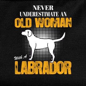 Old Woman With  A Labrador Long Sleeve Shirts - Kids' Backpack