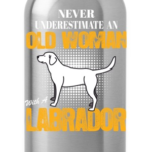 Old Woman With  A Labrador Long Sleeve Shirts - Water Bottle