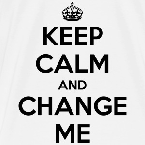 Keep calm and change me Baby Bodysuits - Men's Premium T-Shirt