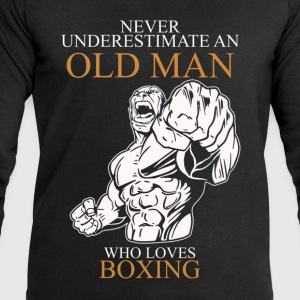 Never Underestimate An Old Man Boxing.png T-Shirts - Men's Sweatshirt by Stanley & Stella