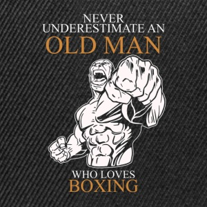 Never Underestimate An Old Man Boxing.png T-Shirts - Snapback Cap