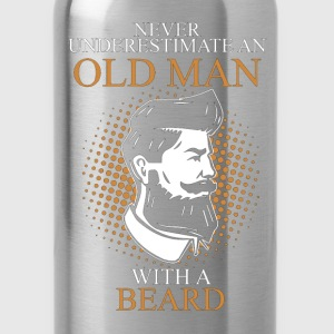 Never Underestimate An Old Man Beard.png T-Shirts - Water Bottle