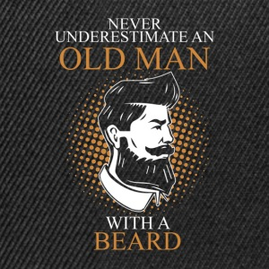 Never Underestimate An Old Man Beard.png T-Shirts - Snapback Cap