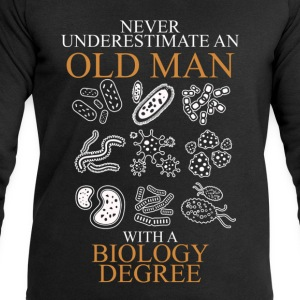 Never Underestimate An Old Man Biology.png T-Shirts - Men's Sweatshirt by Stanley & Stella