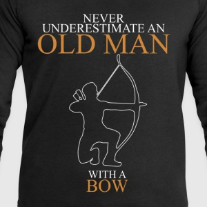 Never Underestimate An Old Man Bow.png T-Shirts - Men's Sweatshirt by Stanley & Stella