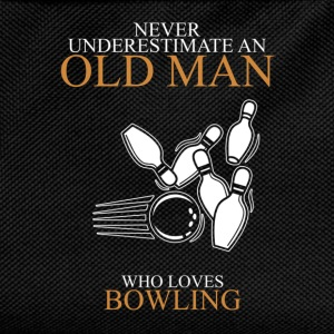 Never Underestimate An Old Man Bowling.png T-Shirts - Kids' Backpack