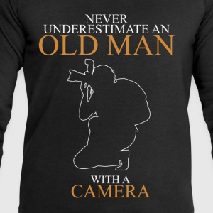 Never Underestimate An Old Man Camera.png T-Shirts - Men's Sweatshirt by Stanley & Stella