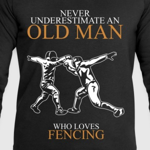 Never underestimate an old man FENCING.png T-Shirts - Men's Sweatshirt by Stanley & Stella