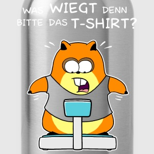 Fettes Hamster Shirt (White) T-Shirts - Trinkflasche