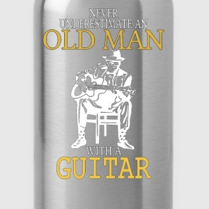 Never Underestimate An Old Man With A Guitar .png T-Shirts - Water Bottle