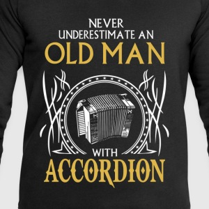 Never underestimate an old man with accordion.png T-Shirts - Men's Sweatshirt by Stanley & Stella